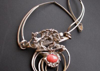 collier argento corallo