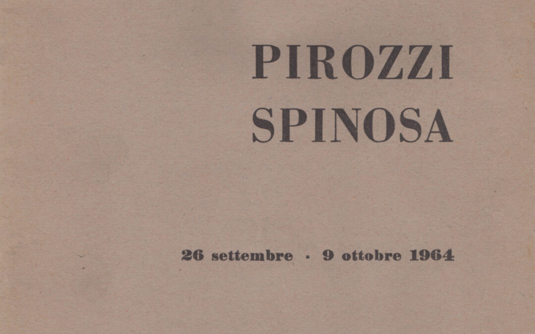 Pirozzi Spinosa alla galleria d'arte Russo, Messina 1964