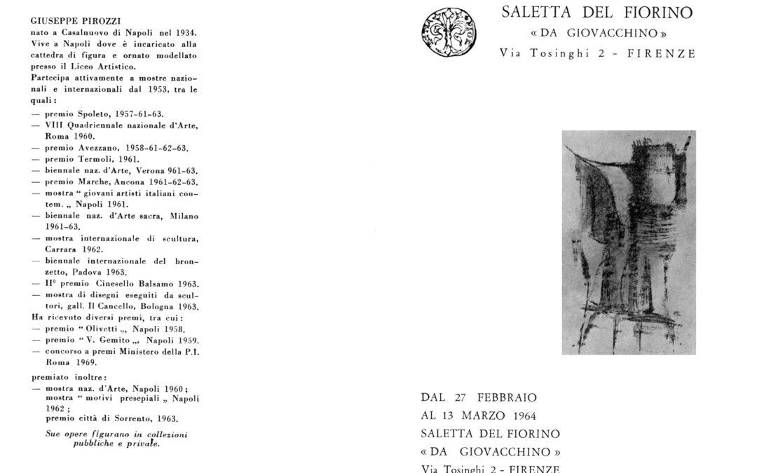 Giuseppe Pirozzi alla Saletta del Fiorino, Firenze 1964
